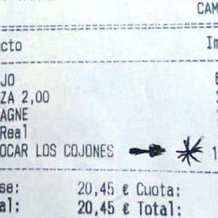 Un bar cobra 10€ por «tocarle los cojones»